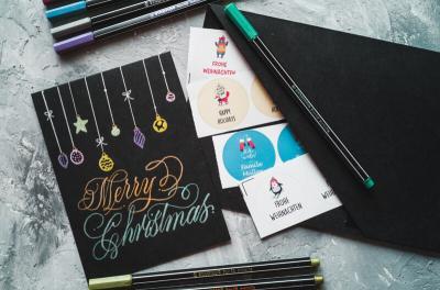 DIY Handletteren – Zelf je kerstkaarten maken